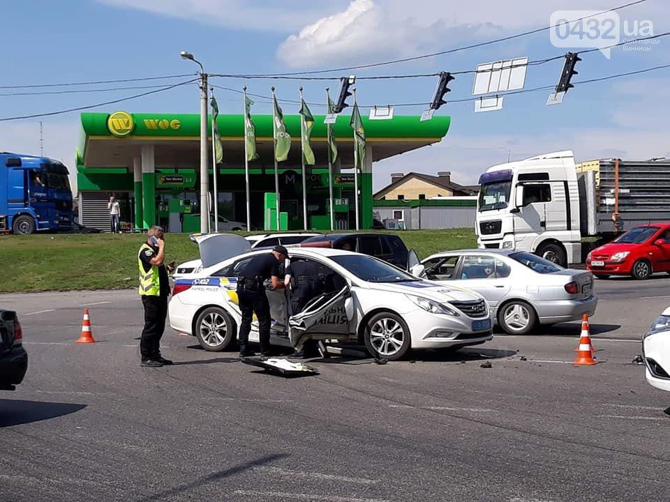 В Виннице полицейские грубо нарушили правила и угодили в ДТП