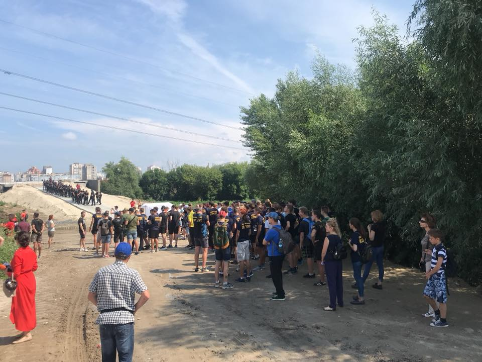 В Киеве произошли столкновения с полицией