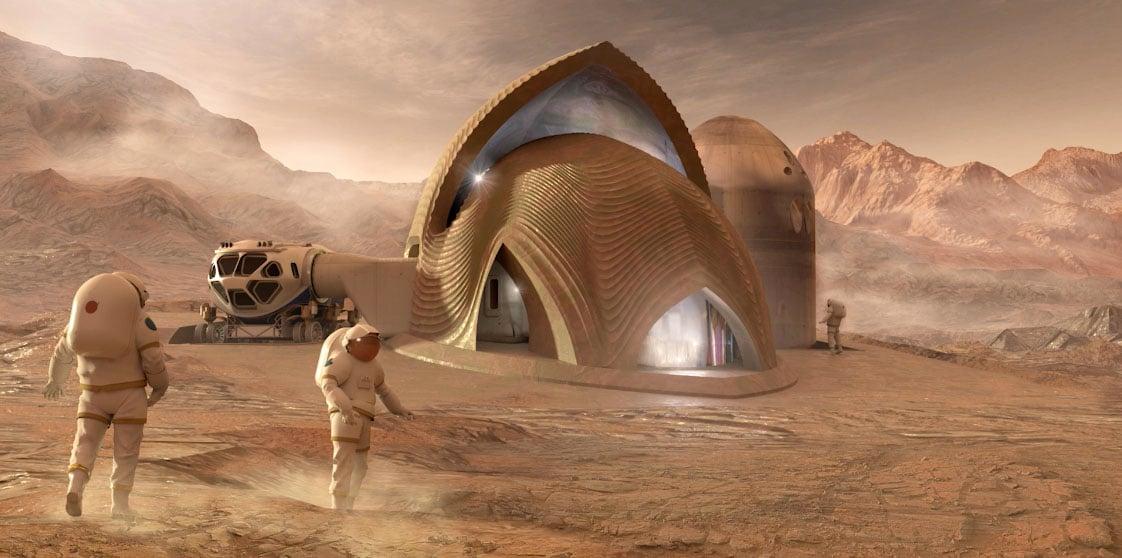 Проект жилья для первых колонистов на Марсе