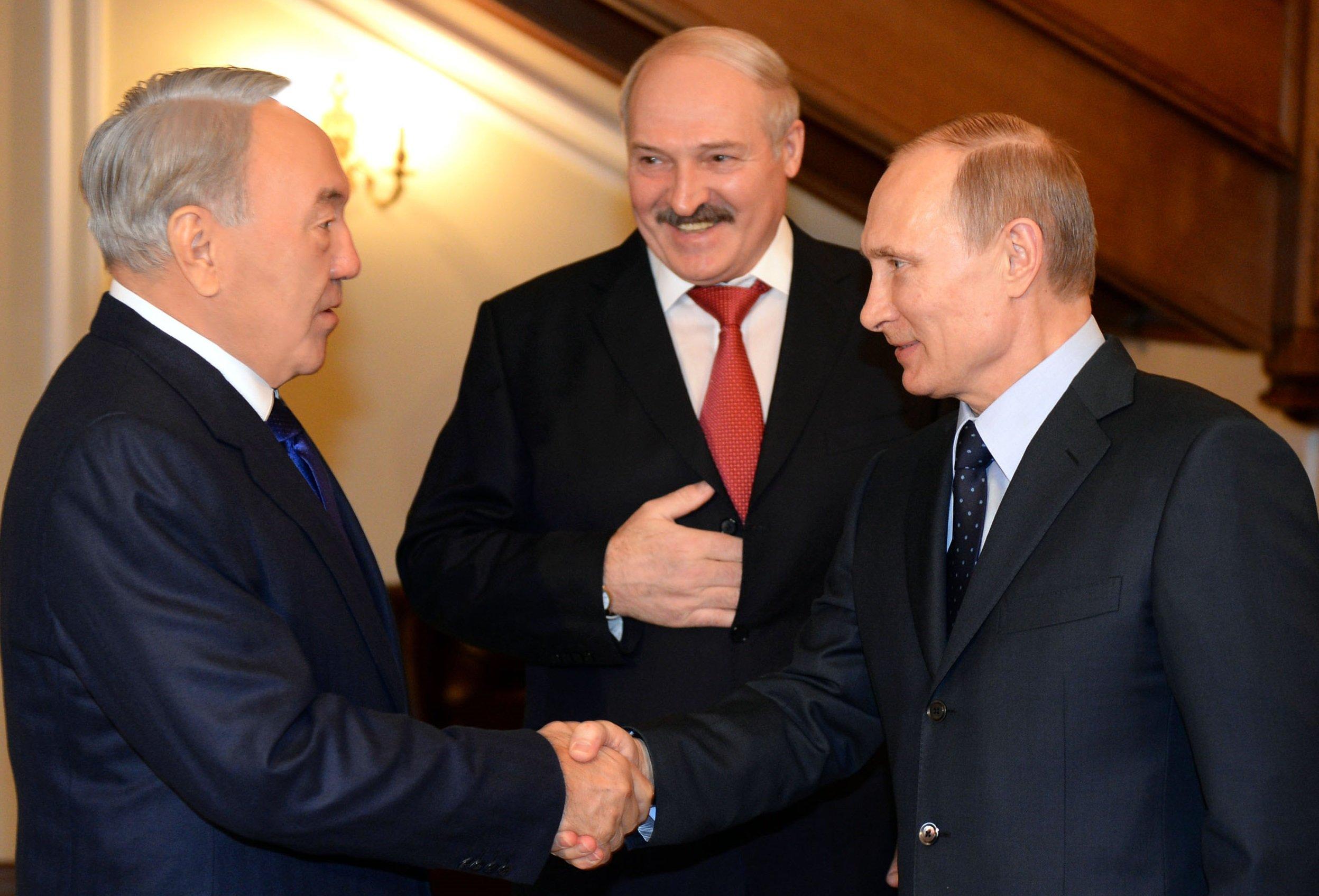 Лукашенко, путин, Назарбаев