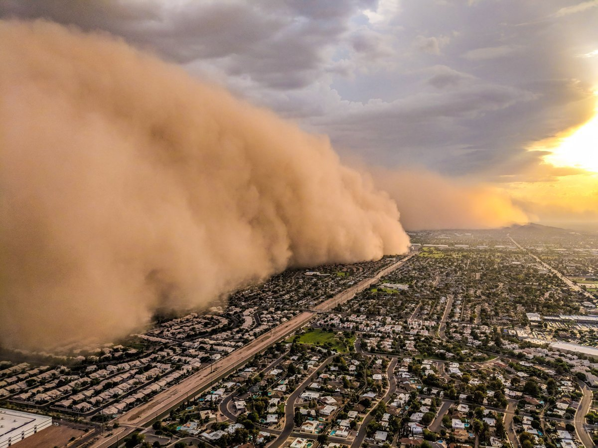 Пылевая буря в Аризоне: филиал Ада на Земле
