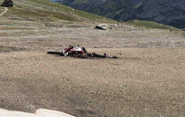 Самолет сильно разрушен, предполагается гибель всех бывших на борту людей