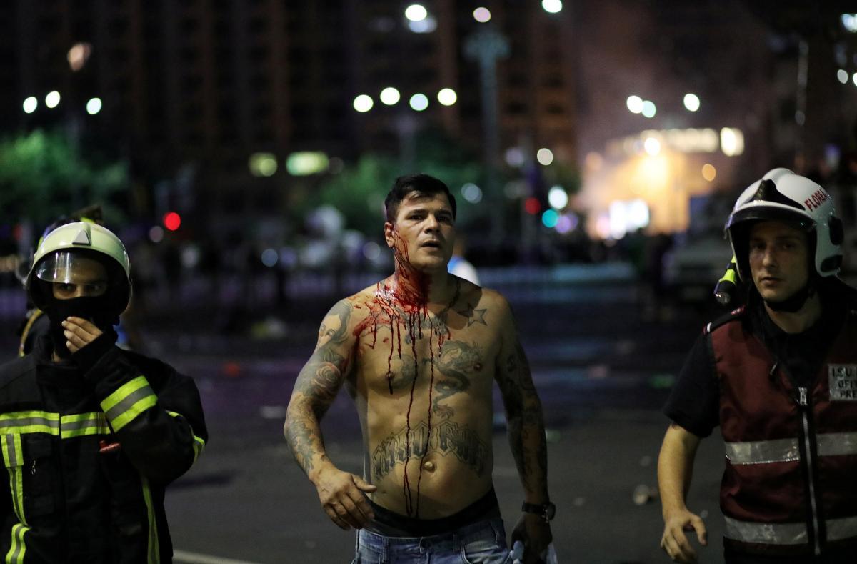 Массовые акции протеста в Румынии