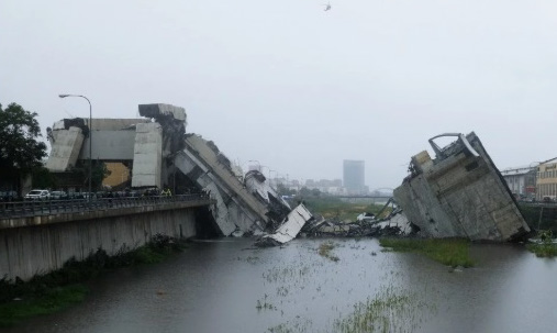 Обрушение моста в Италии