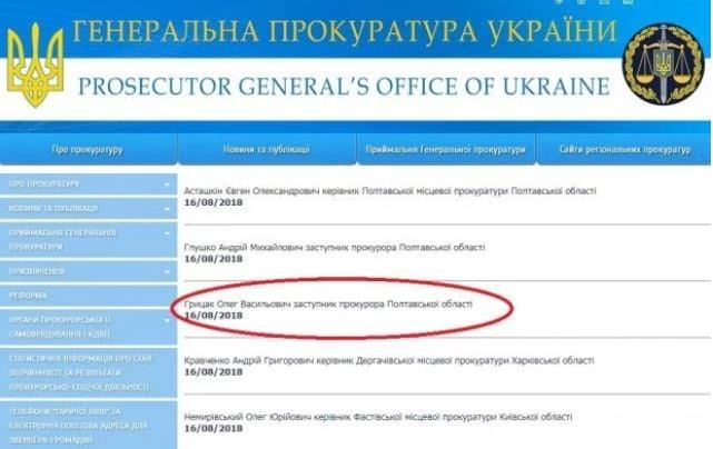/ сайт прокуратуры Полтавщины