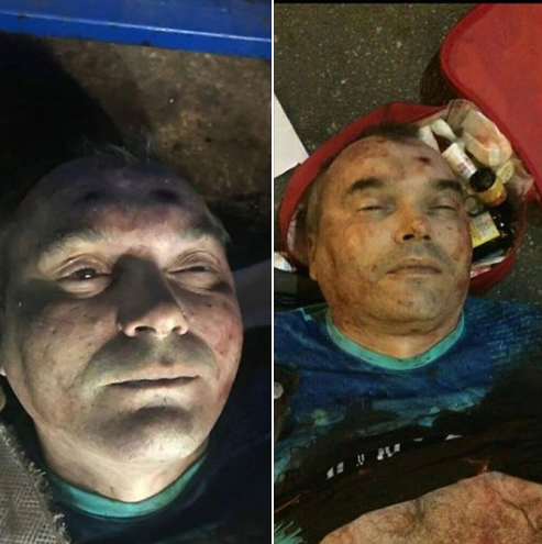 Убитому харьковскому стрелку на вид 40-45 лет, отметили журналисты
