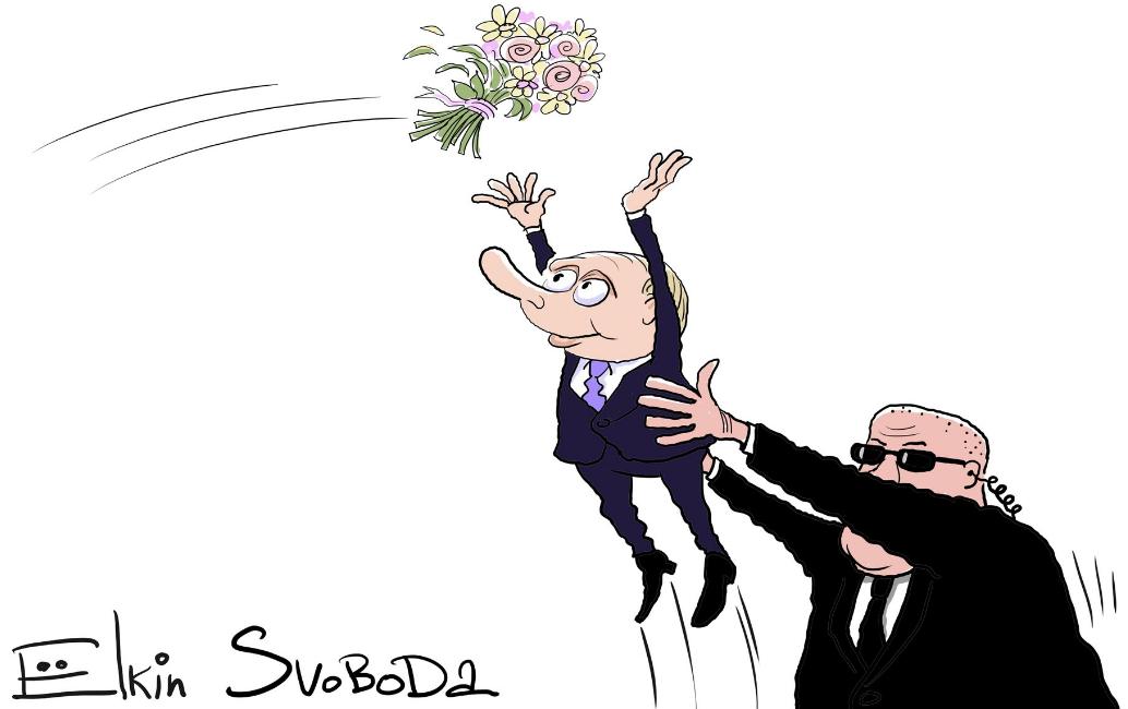 Художник карикатурой потроллил посещение Владимиром Путиным свадьбы главы МИД Австрии