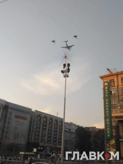 Самолеты прошли прямо над Хрещатиком