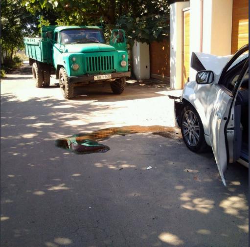 Активисты в последнюю секунду успели покинуть машину