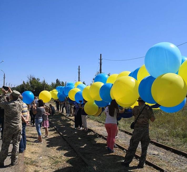 На Донецк! Украинский флаг отправляется в путь