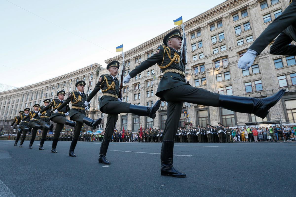 В Киеве на параде ко Дню независимости Украины впервые прозвучало патриотичное военное приветствие