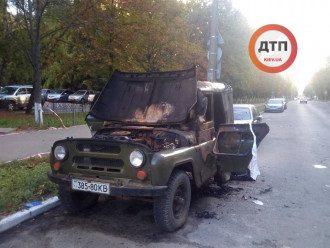 В Киеве в авто сгорел мужчина