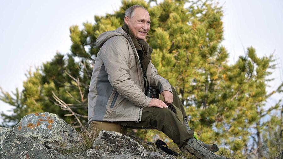 Путин на отдыхе