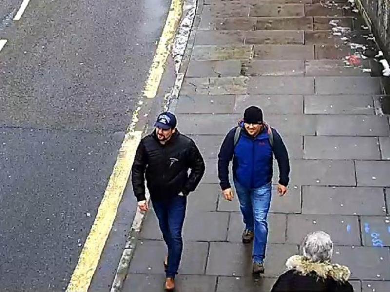 Петров и Боширов в Солсбери на задании 4 марта.