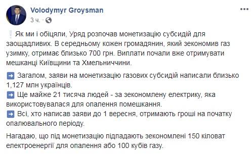 В Украине начали монетизировать субсидии на газ и свет: условия получения