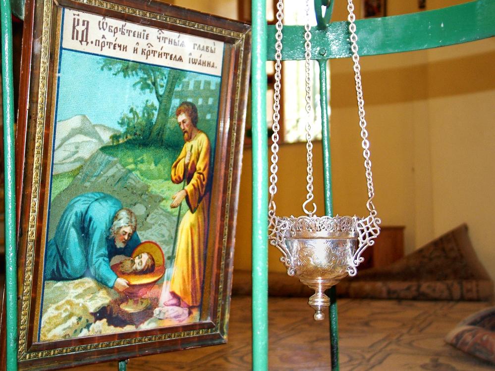 Икона на месте обретения главы Иоанна Предтечи