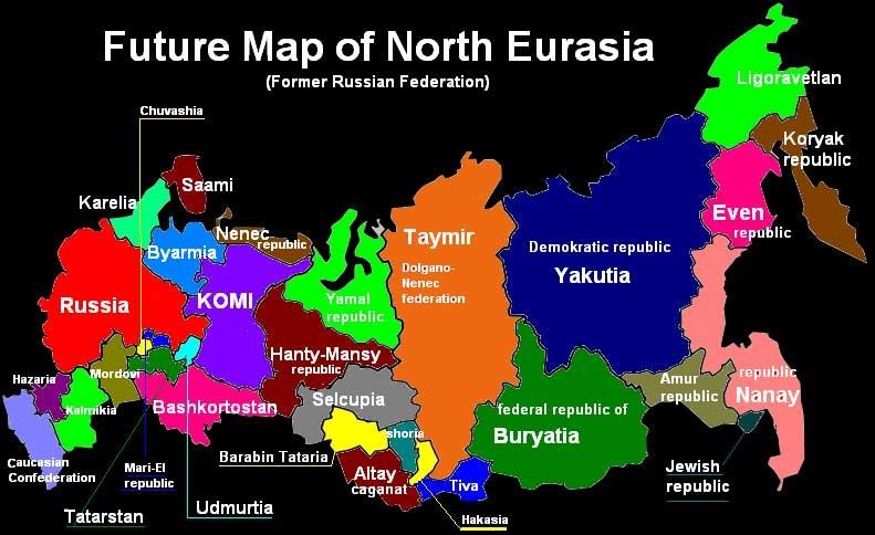 карта россии через 50 лет