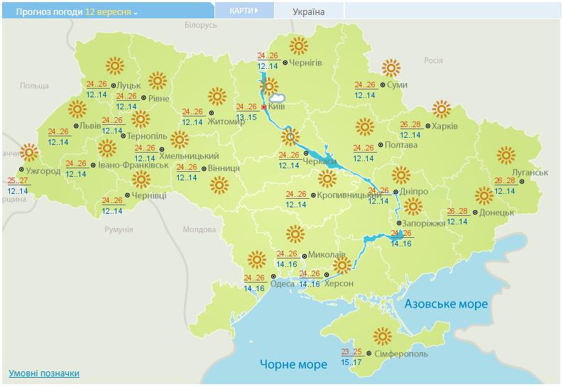 В Укргидрометцентре сообщили, что в Киеве в среду не ожидаются дожди