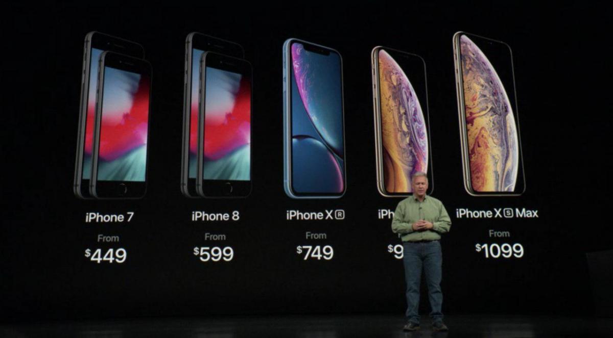 Ценовой ряд новых смартфонов