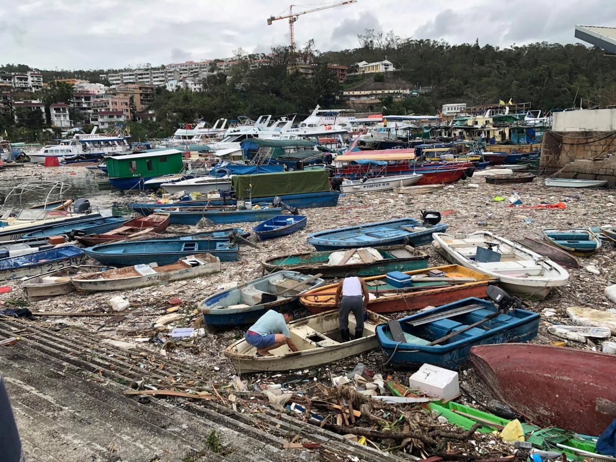 В Китае бушевал супертайфун
