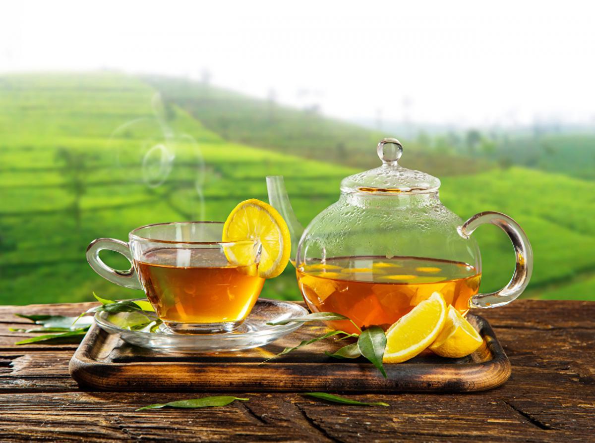 еда_чай_лимон_напиток