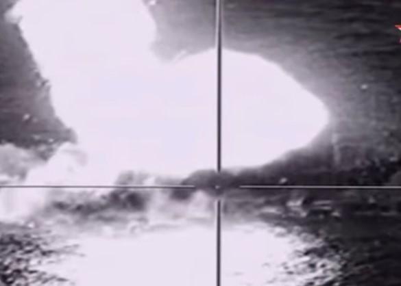 Удар по мишени ракетов Х-35У