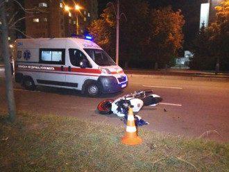 В Киеве мотоцикл убил пешехода