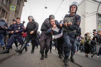 Протесты против пенсионной реформы в России / Reuters