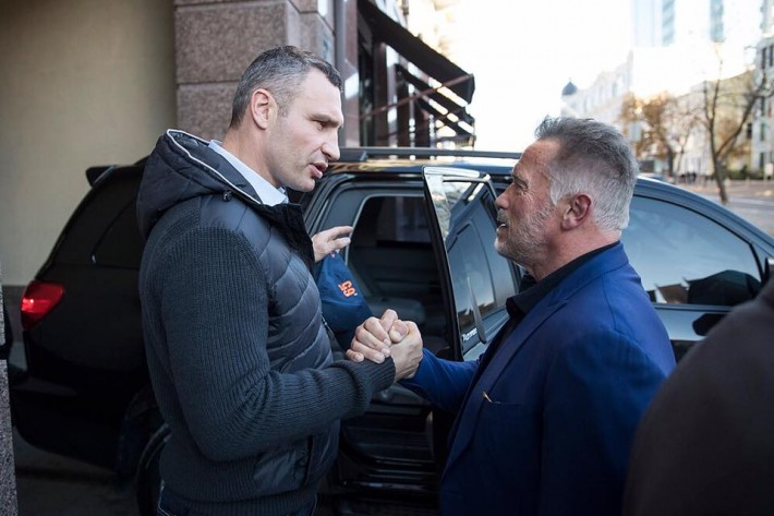 Виталий Кличко, Арнольд Шварценеггер