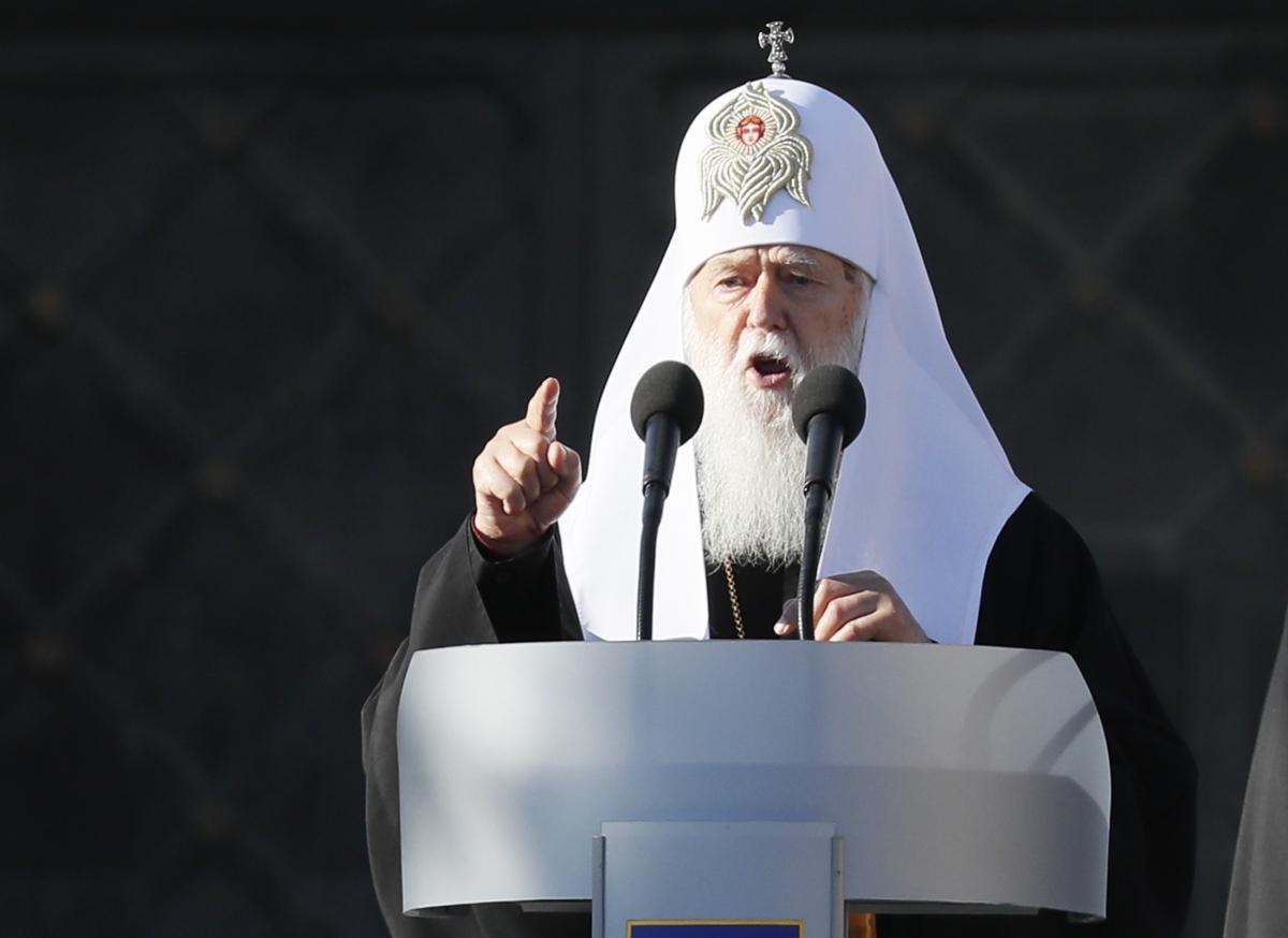 Патриарх Филарет: на Донбассе война идет потому, что в Украине есть