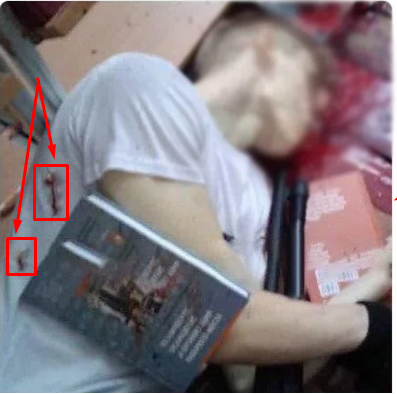 Мертвый Росляков и пулевые отметины на боку и спине