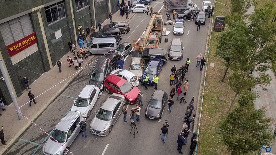 В Сети показали последствия масштабной аварии в Киеве на Печерске с высоты птичьего полета