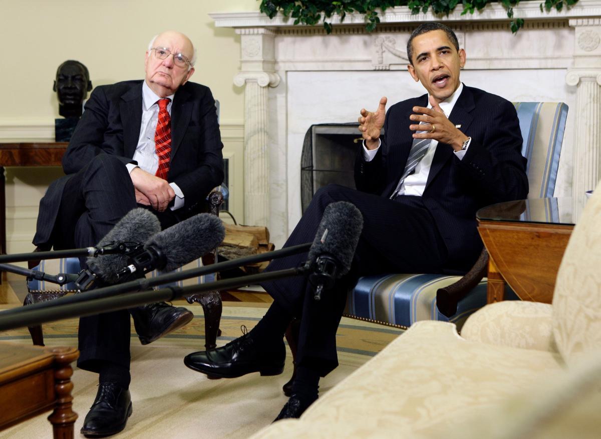 Пол Волкер и Барак Обама