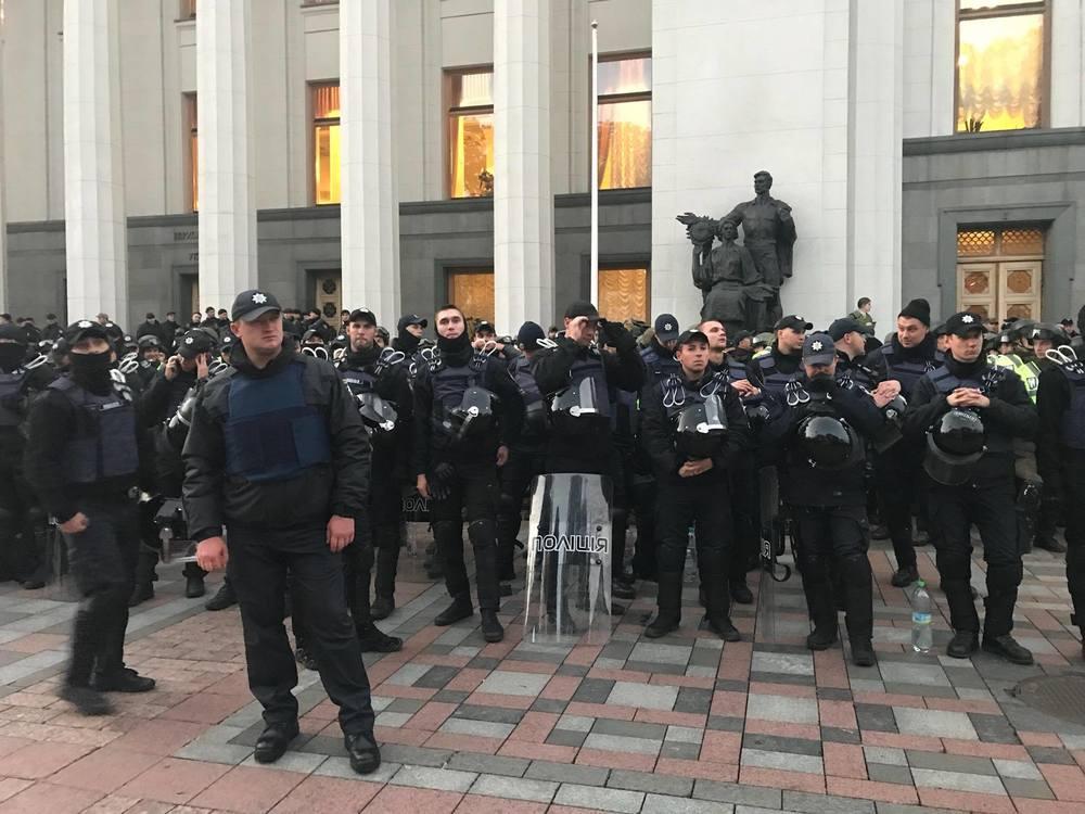 полиция, протесты возле Рады