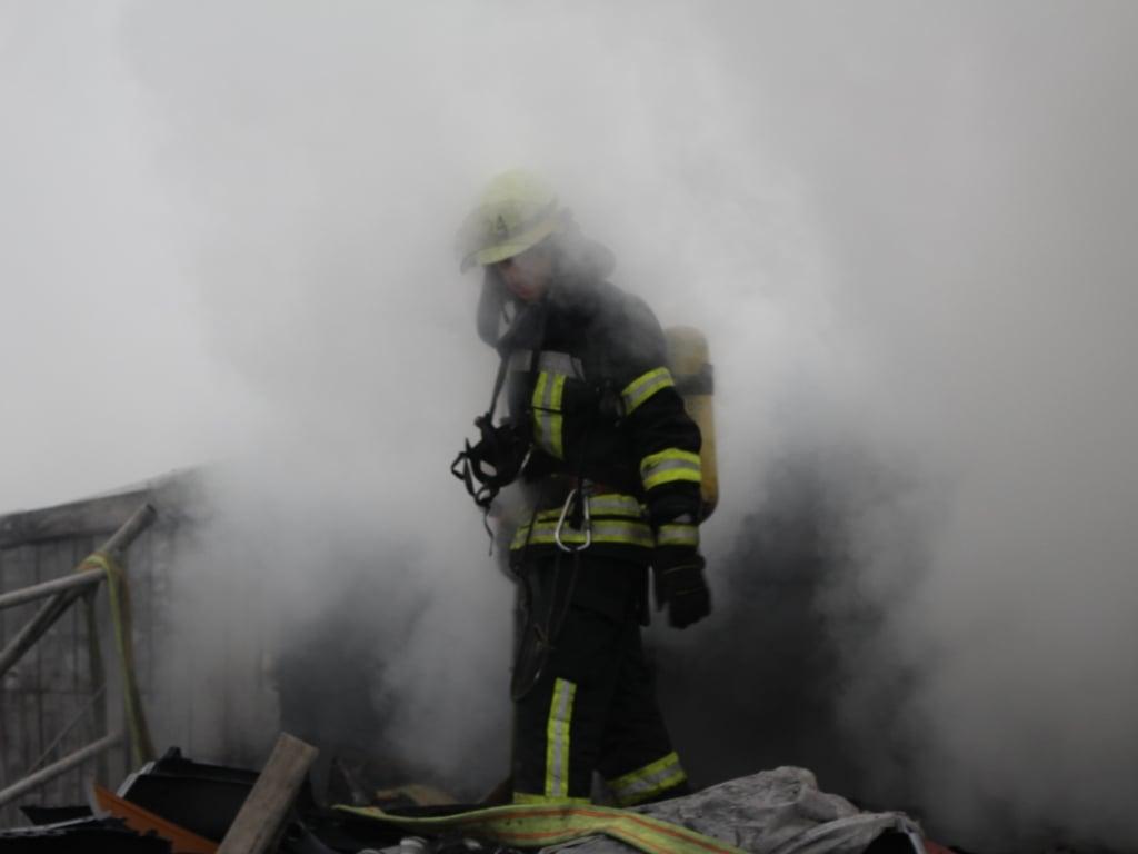 В Киеве произошел пожар на СТО