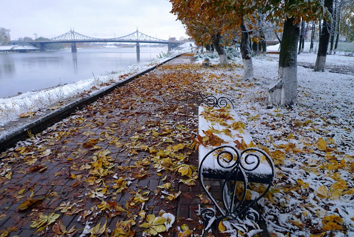 природа_погода_осень_снег