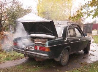 """Украинцы пересаживаются на """"дровомобили"""" / Скриншот ТСН"""