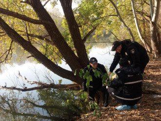 Озера, из которого достали тела / Полиция Киева