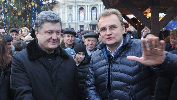 Андрей Садовой, петр Порошенко