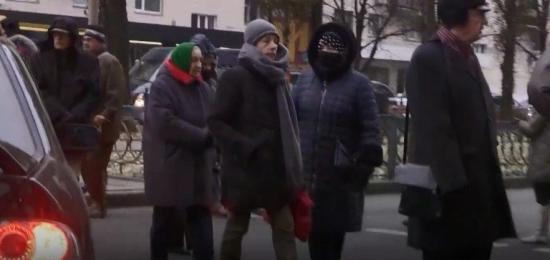 В Киеве местные жители перекрыли дорогу из-за отсутствия отопления