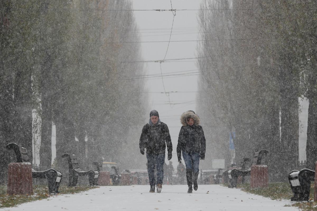 Киев,снег