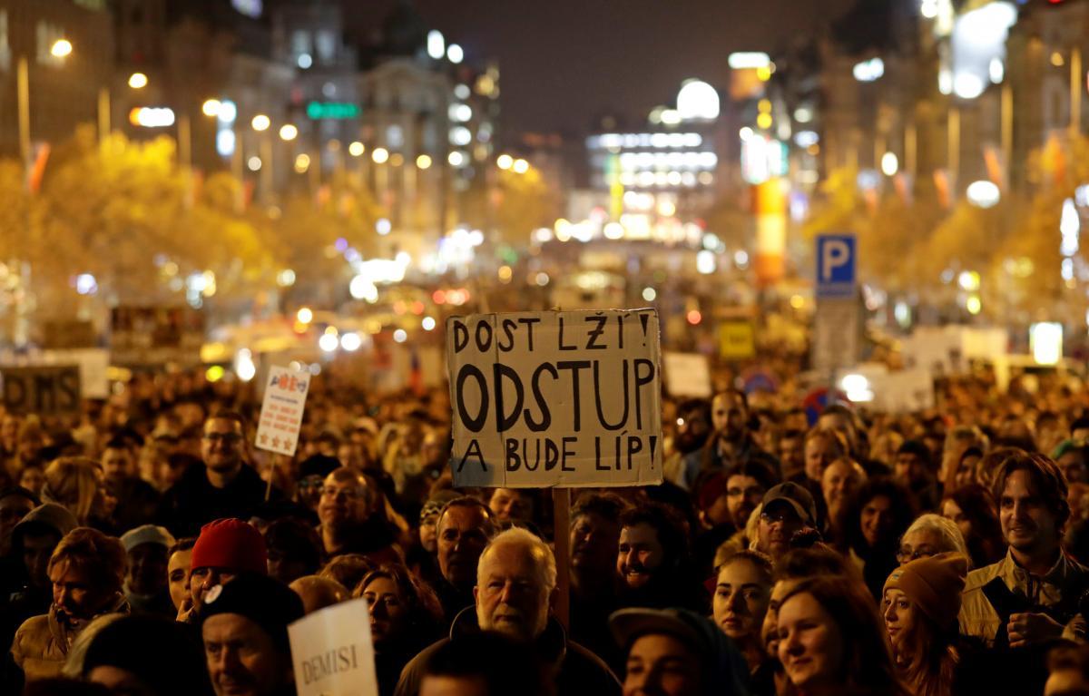 Митинг за отставку премьера Чехии Андрея Бабиша
