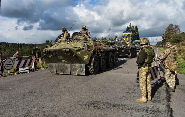 военные учения ЗСУ на Закарпатье