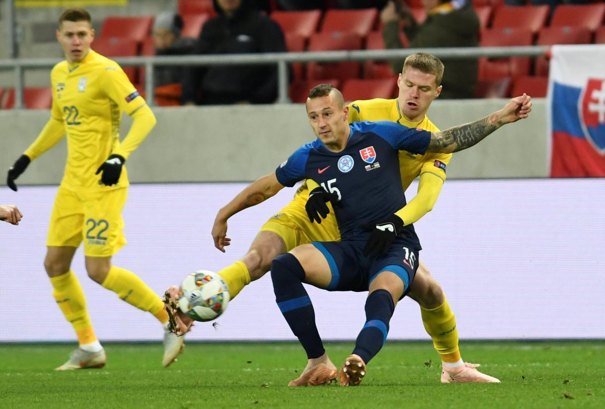 a8711e0756d5 В матче Лиги наций сборная Украины оказалась слабее Словакии   Фото  Reuters