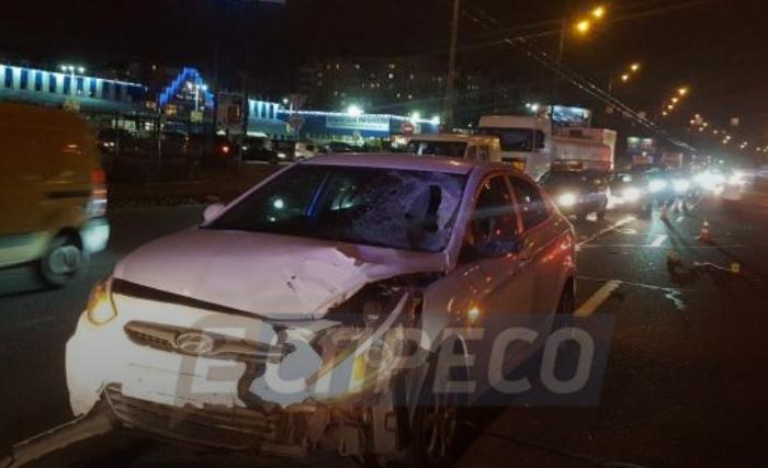 В Киеве иномарка насмерть сбила мужчину, подозреваемого в краже