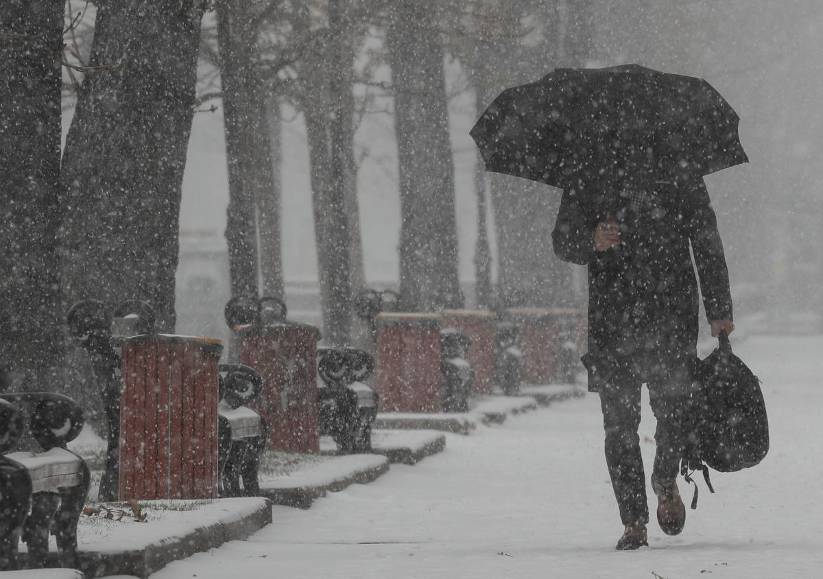 Синоптики предупредили, что в четверг и пятницу ряд областей Украины накроет мокрый снег с дождем