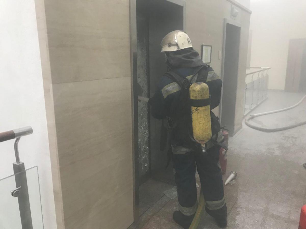 В Киеве в здании Минфина произошел пожар
