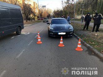 Место ДТП в Ужгороде