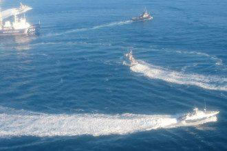 Атакованные Россией украинские корабли