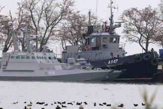 Захваченные украинские катера в Керчи